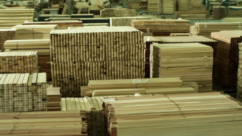 wood chips storage lot - timber yard stock videos & royalty-free footage