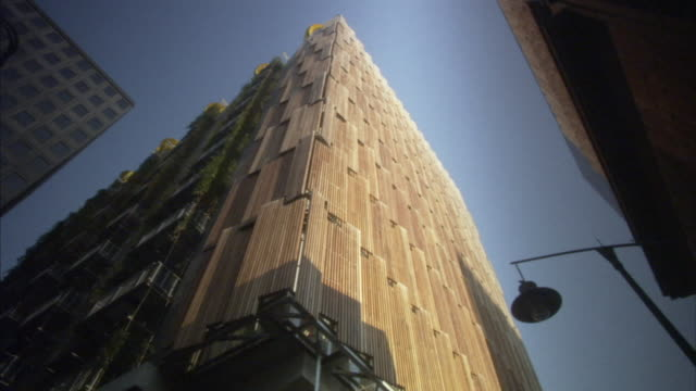 ms la wood clad building, melbourne, victoria, australia - holz stock-videos und b-roll-filmmaterial