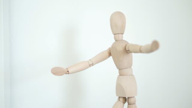wood figure closeup