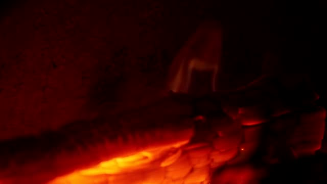 wood logs burning in a oven - hearth oven stock videos & royalty-free footage