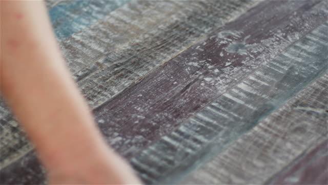 wood panel hand sanding - dusting stock videos & royalty-free footage
