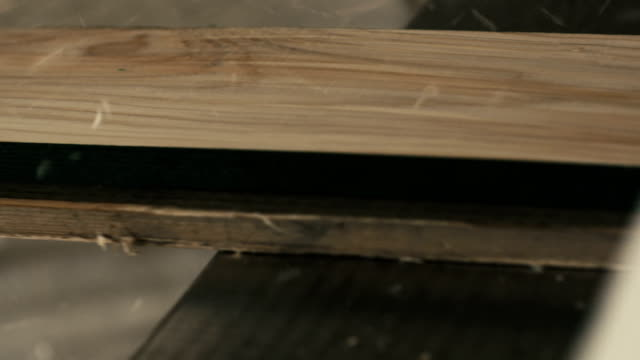 Wood planing tight super slow motion