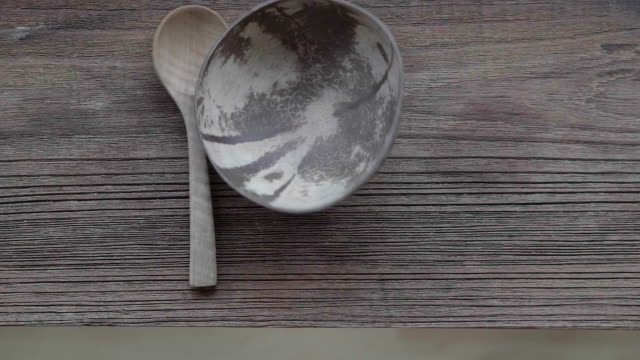 wood spoon fall - pour spout stock videos & royalty-free footage