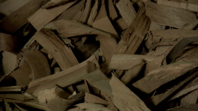 wood strips lie in a pile. - firewood stock videos & royalty-free footage