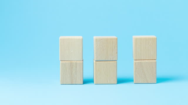 wooden block with stop motion movement. - complexity stock videos & royalty-free footage