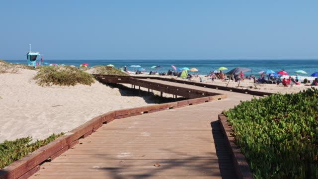 Wooden Boardwalk at Carpinteria State Beach