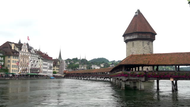 Wooden bridge in Lucerne