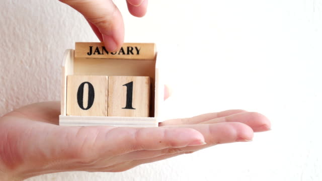 vídeos y material grabado en eventos de stock de calendario de madera show del 14 de febrero por parte - calendario