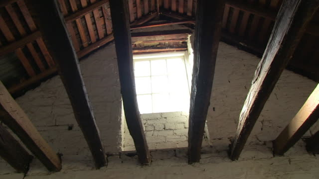 wooden ceiling of a house on a ranch - ranch house stock videos & royalty-free footage
