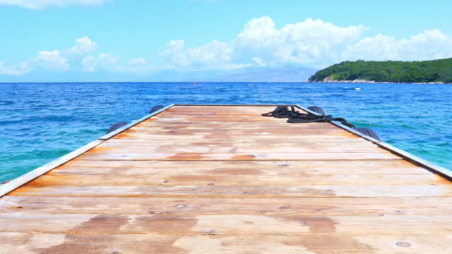 wooden deck by the sea - jetty stock videos & royalty-free footage
