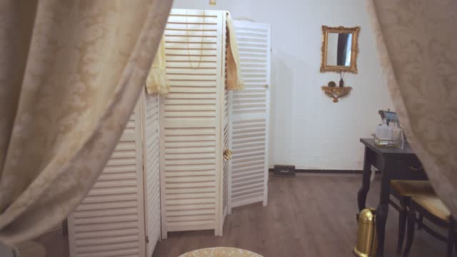 wooden doors changing room at the spa center - spa treatment stock videos & royalty-free footage