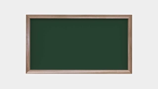 stockvideo's en b-roll-footage met houten frame zwart/groen board 3d rendering motion abstract - enkel object