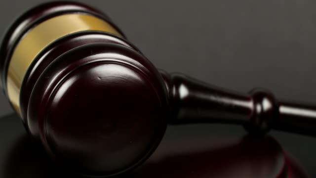 ecu wooden gavel - sentencing stock videos & royalty-free footage