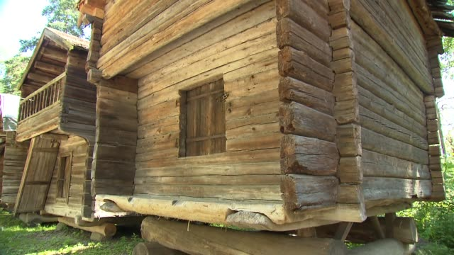 wooden houses - log stock videos & royalty-free footage