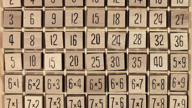 wooden number puzzle - puzzle stock videos and b-roll footage