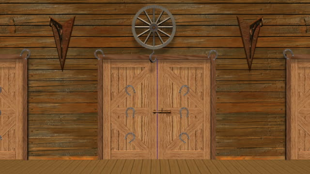 wooden old fashioned barn - wild west stock videos & royalty-free footage