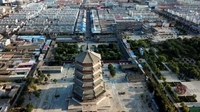 pagoda in legno di yingxian, provincia dello shanxi, cina. - narrare video stock e b–roll