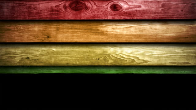 wooden panels animation - rainbow (hd 1080) - number 5 stock videos & royalty-free footage