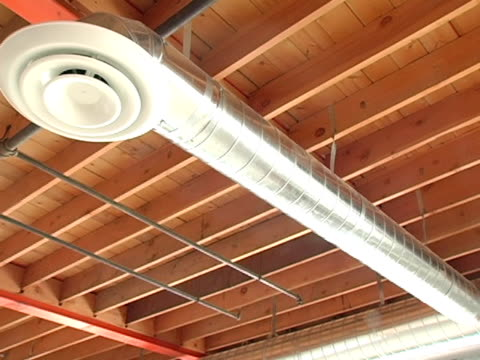 wooden rafters - air duct stock videos & royalty-free footage