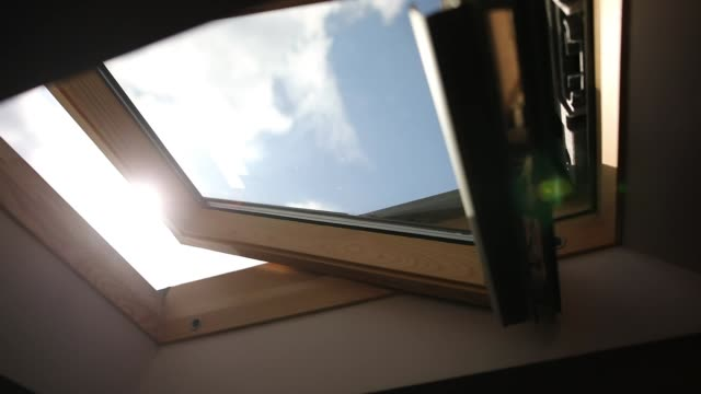 wooden skylight window - natural phenomenon stock videos & royalty-free footage