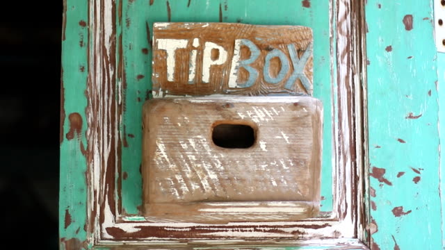 wooden tip box - gratuity stock videos & royalty-free footage