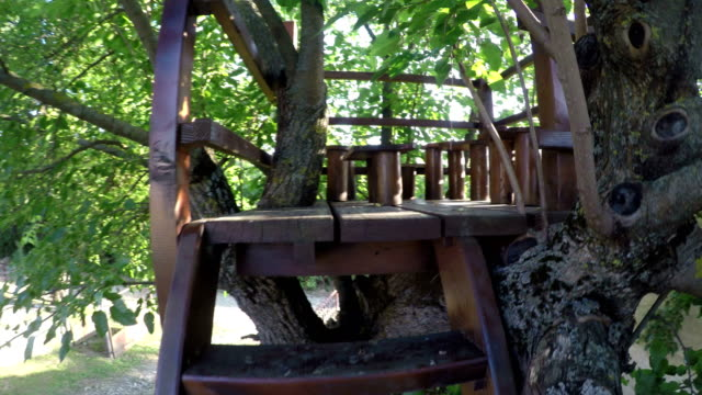 wooden tree house 4k - playhouse stock videos and b-roll footage
