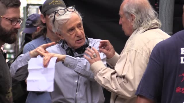 woody allen and cinematographer vittorio storaro filming on location on minetta lane in greenwich village new york city - woody allen stock videos & royalty-free footage