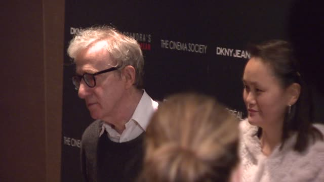 woody allen and soonyi previn at the new york special screening of 'cassandra's dream' at tribeca grand screening room in new york new york on... - soon yi previn stock videos & royalty-free footage