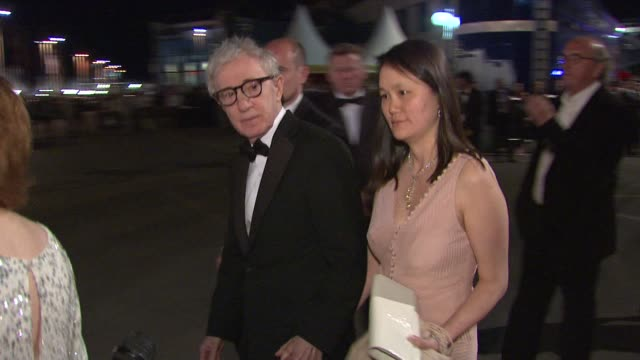 woody allen and soonyi previn at the opening night dinner during the 64th cannes film festival at the opening gala dinner 64th cannes film festival... - soon yi previn stock videos & royalty-free footage