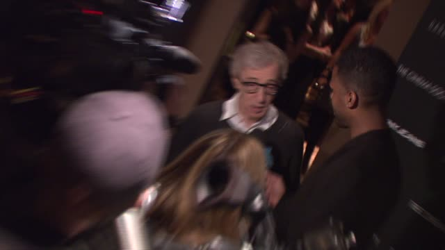 woody allen at the new york special screening of 'cassandra's dream' at tribeca grand screening room in new york, new york on december 18, 2007. - woody allen stock videos & royalty-free footage