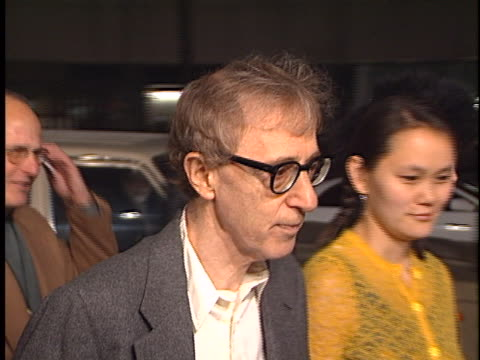 woody allen at the sweet and lowdown premiere at academy theater beverly hills in beverly hills ca - soon yi previn stock videos & royalty-free footage