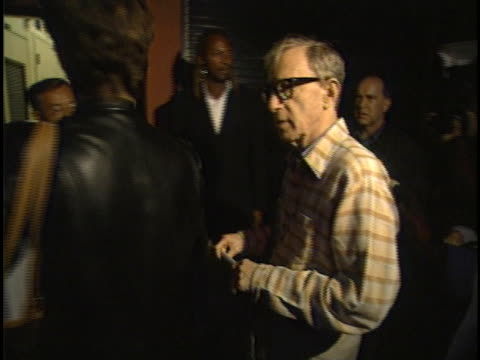 woody allen at the woody allen plays clarinet at jazz bakery los angeles in los angeles ca - woody allen stock videos & royalty-free footage