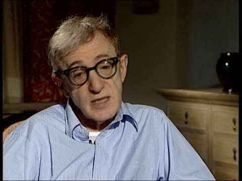 woody allen interviewed sot this is a problem one can deal with terrorism or war between two nations are problems that can be resolved i'm... - woody allen stock videos & royalty-free footage