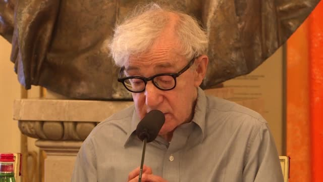 woody allen joins the artistic director of la scala opera house in milan to discuss the opera he's directing gianni schicchi - woody allen stock videos & royalty-free footage