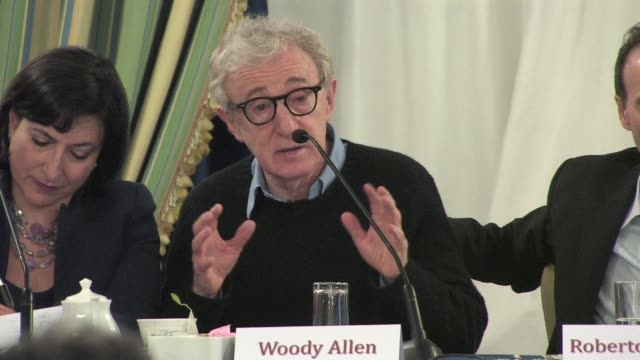 woody allen on dubbing his movies at the to rome with love press conference at the hotel parco dei principi in rome italy on april 13 2012 interview... - woody allen stock videos & royalty-free footage