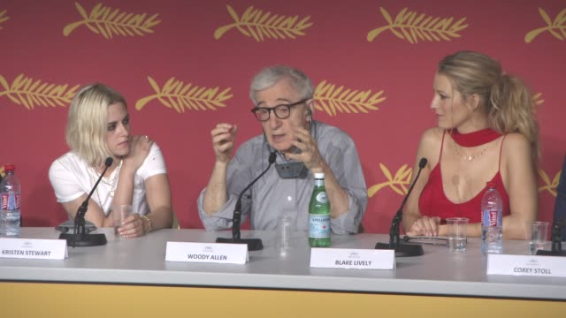 interview woody allen on life and how people deal with it at 'cafe society' press conference at palais des festivals on may 11 2016 in cannes france - woody allen stock videos & royalty-free footage