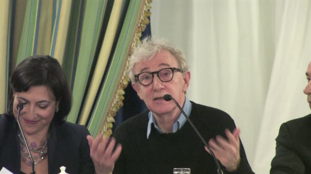 woody allen on making a movie as a distraction at the to rome with love press conference at the hotel parco dei principi in rome italy on april 13... - woody allen stock videos & royalty-free footage