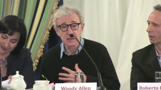 woody allen on making a movie in rome at the to rome with love press conference at hotel parco dei principi in rome italy on april 13 2012 interview... - woody allen stock videos & royalty-free footage