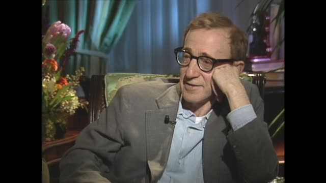 woody allen on preferring fiction and fantasy over real life - woody allen stock videos & royalty-free footage