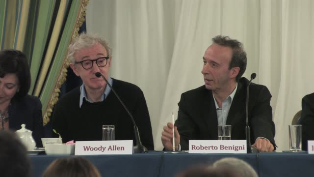 Woody Allen on the character of Roberto Benigni at the To Rome With Love Press Conference at the Hotel Parco Dei Principi in Rome Italy on April 13...