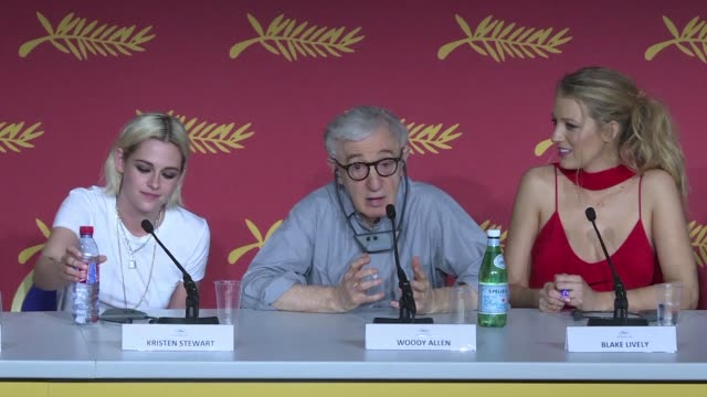vídeos y material grabado en eventos de stock de woody allen said wednesday he would continue to make films and wouldnt rule out a movie on the love between an older woman and a young man if he had... - woody allen