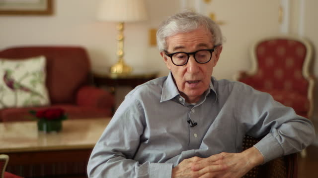 woody allen saying 'eventually there will be nothingnothing at all' - woody allen stock videos & royalty-free footage