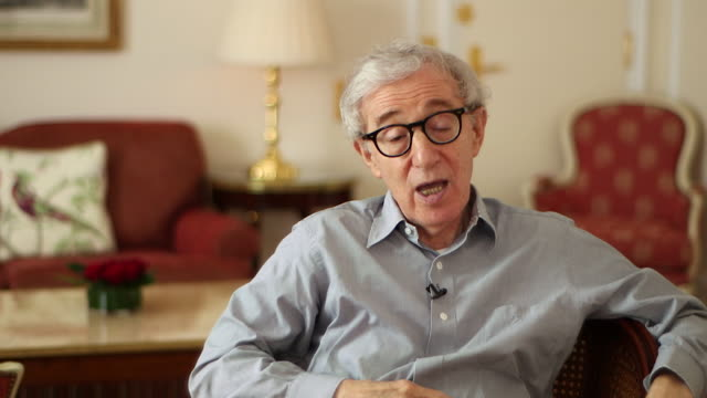 woody allen saying ' i do have a gloomy viewyou mustn't affect others with your gloom' - soon yi previn stock videos & royalty-free footage