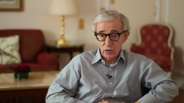 woody allen saying 'i don't see anything optimistic about the futurethe economies of the word are struggling' - woody allen stock videos & royalty-free footage