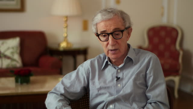 woody allen saying 'the united states has not been in a good place at all there has been an enormous amount of conflicts' - woody allen stock videos & royalty-free footage