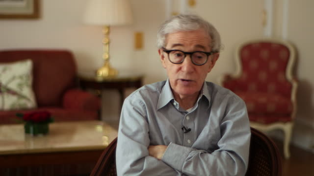 woody allen saying 'there were a certain amount of bankers rich people who were not hurt [in the 2008 recession] and have come back beautifully' - woody allen stock videos & royalty-free footage