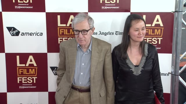 woody allen soonyi previn at 2012 los angeles film festival premiere of 'to rome with love' woody allen soonyi previn at regal cinemas la live on... - soon yi previn stock videos & royalty-free footage