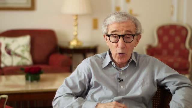 woody allen talks about potentially returning to stand up comedy - woody allen stock videos & royalty-free footage