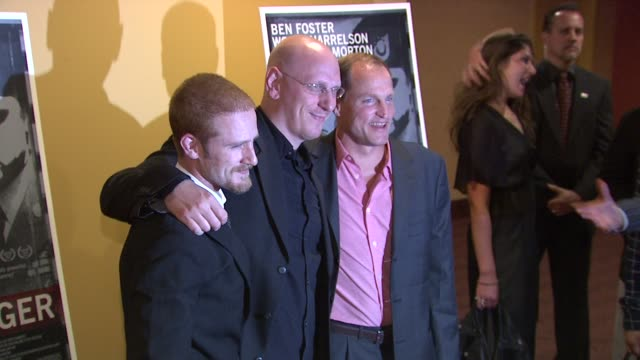 woody harrelson and ben foster at the 'the messenger' new york premiere at new york ny - woody harrelson stock videos & royalty-free footage
