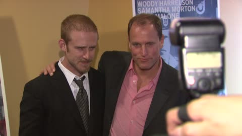 woody harrelson and ben foster at the 'the messenger' new york premiere at new york ny. - woody harrelson stock videos & royalty-free footage